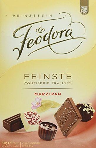 Feodora Feinste Confiserie Pralinés Marzipan, 1er Pack (1 x 150 - Gourmet Edelbitter-schokolade Geschenk