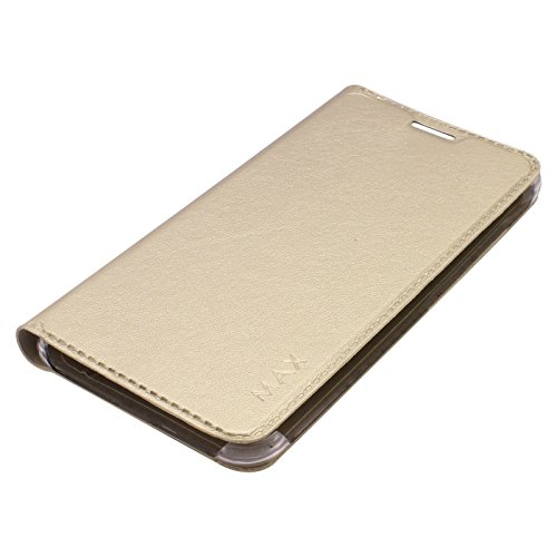 DMG PU Leather Flip Cover Case for ASUS Zenfone Max (Gold)