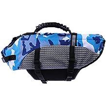 POPETPOP Chaleco Salvavidas para Perro Chaleco Seguridad para Mascota Peso Tamaño XL Azul