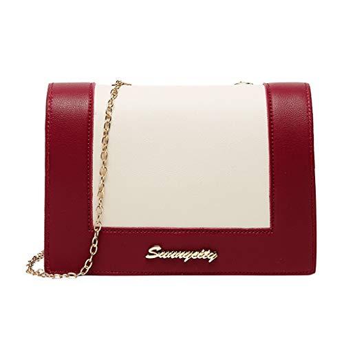 Dhyuen Frauen Einfache Beliebte Mode Lady One Schultern Kleiner Rucksack Brief Geldbörse Handy Umhängetasche