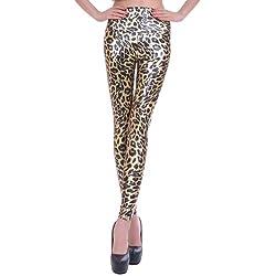 MrHappyDeal Leggings imitación piel en una amplia selección de colores leopardo S/36/38