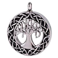 Alcoa Prime Tree of Life Openable Pet Cat Cremation Ashes Urn Pendant Memorial Jewelry