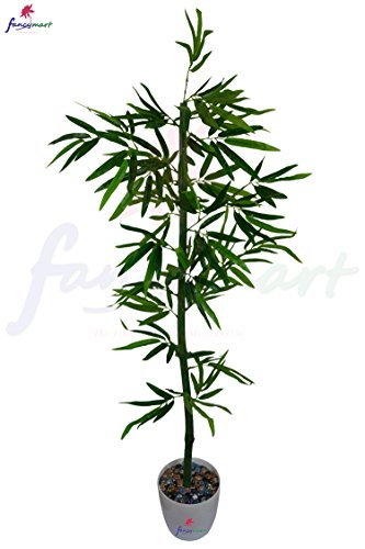 Thefancymart Artificial Bamboo Tree (size 4.5 ft/ 54 inchs/ 137 cms) without pot-1285