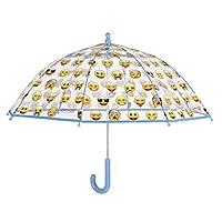 PERLETTI perletti75051 42/8 Dome Shape Poe Printed Emoji Safety Open Windproof Umbrella, Multi-Color