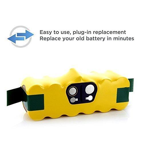 Forrat Batterie Ni-MH 3000mAh pour iRobot Roomba 500, 600,700,800 Aspirateur Series 510 530 531 532 533 535 536 540 545