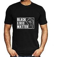 Negro Vive la Materia-I No Puedo Respirar Hombres Mujer Libertad Civil Derechos Tops Camiseta Corto Manga Blusas Vistiendo Cómodo / A3 / XL