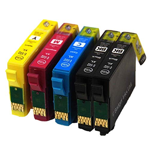 Ouguan - Cartucce d'inchiostro compatibili con Epson 502 502XL per Epson Expression Home XP-5100 XP-5105 Workforce WF-2860DWF WF-2865DWF