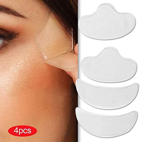 Pad für die Stirn, 4pcs Adhesive Falten für Facial Lifting Silikon Compressing Patches für die Vorderseite, für Stirn und Augenbrauen, Falten und Stirn Prävention -