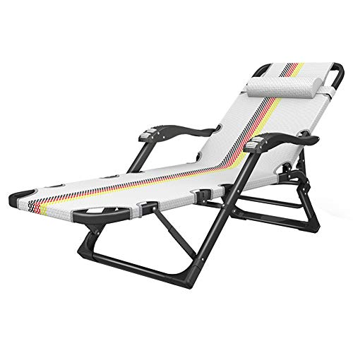 ZHAOYONGLI-Stühle, Deckchairs, Sessel Patio Lounge Chair Folding Schwerelosigkeit Stuhl Einstellbare Terrasse Chaise Lounge Für Garten Camping Yard Pool Beach Office - Terrasse Chaise Für Die Lounge