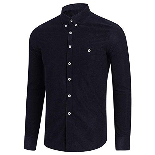 feiXIANG Herren Hemd Casual Langarm Männer Hemd große größen Shirt Top Business Freizeit Bluse Oberteile M-5XL