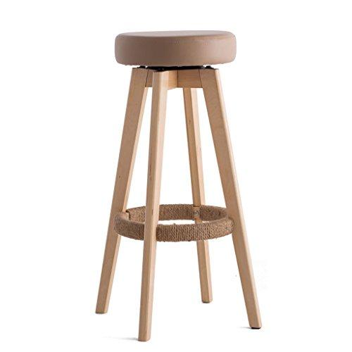 Qiangzi Chaises modernes en bois Tabouret Simple En Cuir Souple Banc En Bois Massif Tabourets Hauts (Couleur Facultative) Pour Kitchen Bar Cafe (Couleur : B-S, taille : *4)