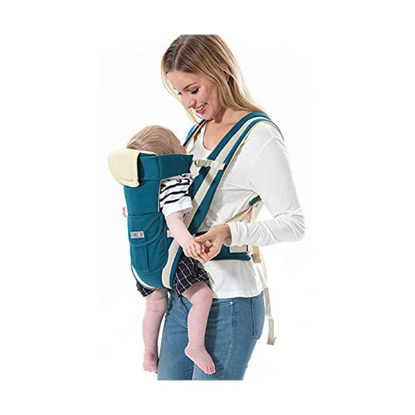 Baby Carrier, Sunzit Baby Carriers Newborn to Toddler Front and Back Breathable Adjustable Swaddle Wrap Ergonomic Breastfeeding Baby Sling Carrier Sunzit 【Ergonomic Design】: The auxiliary spine micro-C structure and leg opening design, natural M-type sitting.Thickening sponge soft filling, effectively relieve Mommy abdominal force. We add anti-wear pads in the armpit and thighs to protect the baby's skin. 【Double Safety】: Double-protection design, hook & loop fastener accompanied with waistband buckle, provides safer and more stable waist support; The baby carrier allows adjustment of waist support for comfort to alleviate pressure on shoulders 【MATERIAL】: The baby carrier is made of 100% skin-friendly cotton fabric, the baby carrier would cradle your baby comfortably; Unique comfort pad prevents back pains from squeeze of back buckle; Anti-scratch edges, designed with cotton fabric, help avoid injuries to baby's legs from scratches 2