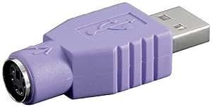 Wentronic Adaptateur USB Fiche A / Prise PS/2 (Import Allemagne)