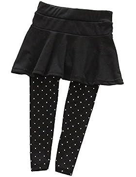 Brightup Bambini Ragazze gonna leggings polka dot pattern Pantalone gonna pantaloni pantaloni collant