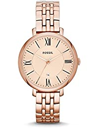 Fossil Analog Rose Gold Dial Women's Watch - ES3435