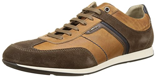 Geox Herren U Clemet B Low-Top Braun (browncotto/ebonyc6g6z)
