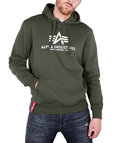 Alpha Industries Herren Oberteile / Hoody Basic grün S