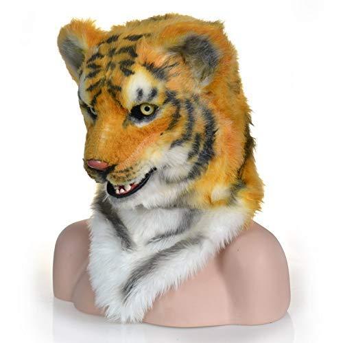 LZY Masken Lustige Halloween Kostüm Theater Prop Neuheit Fell Tiger Led Kopf Tiere Maske - Machen Theater Kostüm