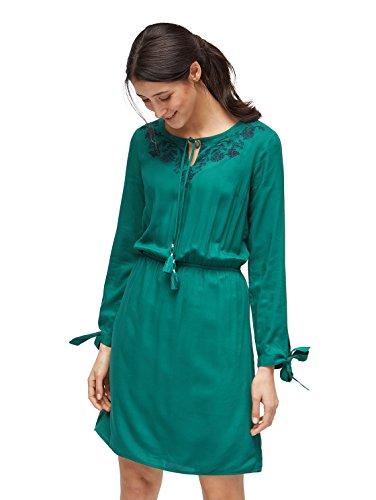 TOM TAILOR für Frauen Kleider & Jumpsuits Kleid mit floraler Stickerei ecuador green 38
