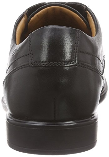Clarks Gosworth Apron, Derby homme Noir (Black Leather)