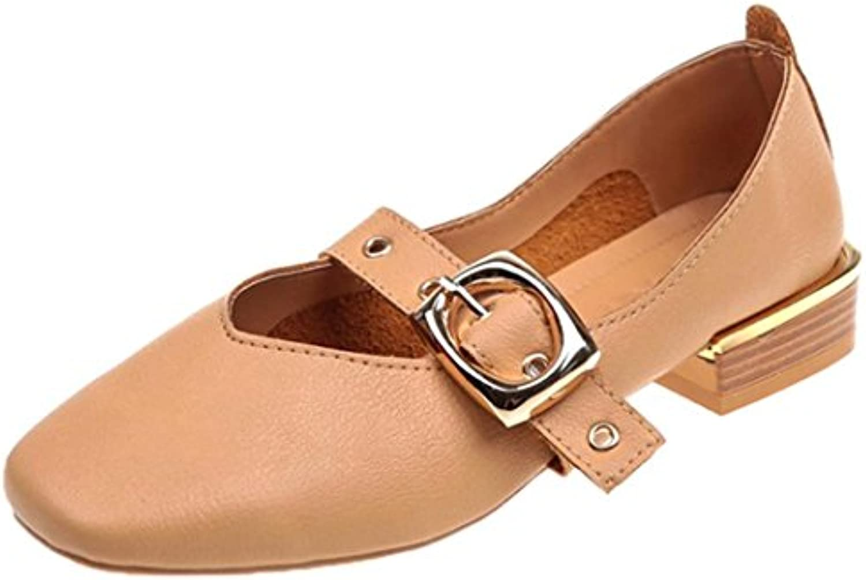 f111f049cf82 Fashion Women 8639 British Small Mouth Shoes Mid Lazy Shoes Retro Shallow  Mouth Square Mid Heel Single Shoes B07FNJQ6GG Parent 1e90b62 -  www.stechguru365. ...