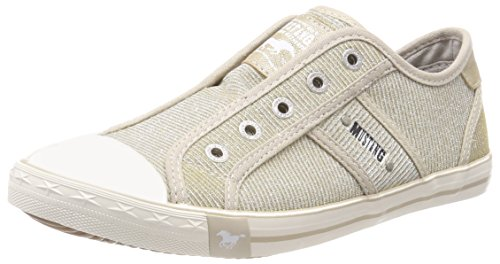 MUSTANG Damen 1099-407-480 Slip On Sneaker, Beige (Champagner), 37 EU