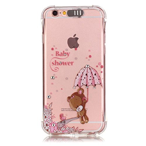 "Coque iPhone 6S Plus, MOONCASE iPhone 6 Plus Etui Ultra Mince Coque Housse Silicone Parfait Cover Case avec Absorption de Choc pour iPhone 6 Plus(2014) / 6s Plus(2015) 5.5"" - YX03 Série de diamants - YX10"
