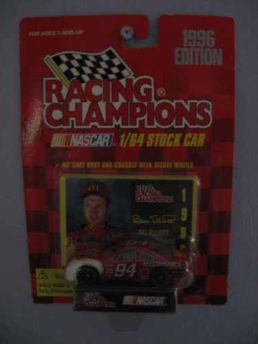 Racing Champions 1/64 scale Stock Car with collectible card 1996 Edition #94 Bill Elliott by Racing Champions