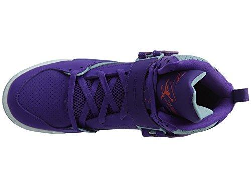 Nike Jordan Flight 45 High Ip Gg, espadrilles de basket-ball femme Morado (Fierce Purple / Ember Glow-Blue Grey-White)