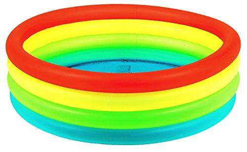 Jilong Neon Fashion Pool Ø 150 x 40 cm Kinderpool Planschbecken Schwimmbecken Kinder Schwimmbad für Garten und Terasse