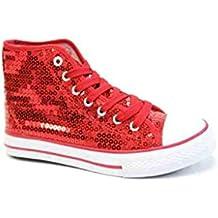 Unbekannt Pailletten Schuhe Rot Glitzer 36-42 Damen   Herren Designer  Schnürer 6193d7d1be