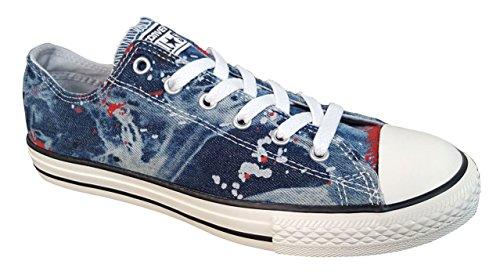Converse Jr. Chuck Taylor All Star Print Ox Ash Grey/Casino Denim 651700F Converse Chuck Taylor Print Sneaker