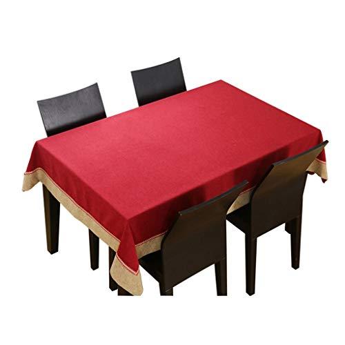 Unbekannt Tischdecke - rechteckige einfarbige waschbare Tischdecke aus klassischem Mahagoni, ideal for Buffets, Partys, Festtagsessen, Hochzeiten und mehr (rot/blau) (Color : A, Size : 90CM*90CM) -