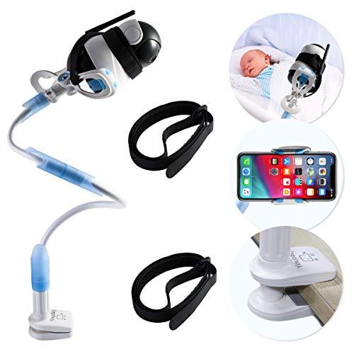 Soporte universal para cámara de bebé, soporte para monitor de vídeo para niños pequeños y estante, soporte flexible ajustable para cámara de bebé, compatible con la mayoría de monitores de bebé