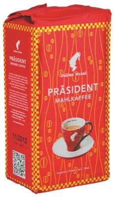 Julius Meinl Kaffee Präsident, Mahlkaffee, 5 Packungen mit jeweils 500g, gesamt 2,50 Kg ...