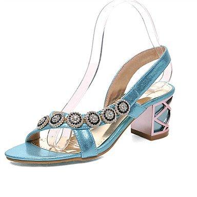 LFNLYX Donna tacchi Primavera / Autunno / Inverno piattaforma / Comfort materiali personalizzati / similpelle matrimonio abito / / Casual Chunky fibbia tacco Blue