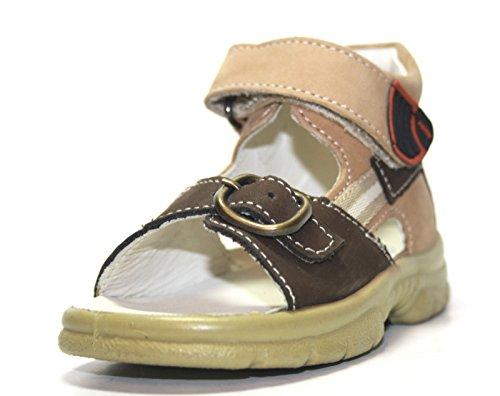 Jela 41.021.22 enfants sandales chaussures d'été Marron - Marron/beige