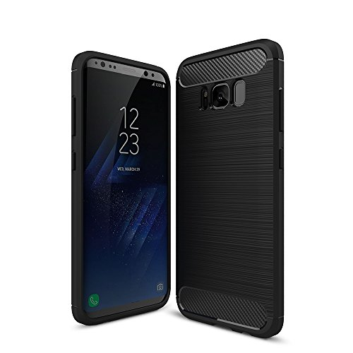 WindTeco Galaxy S8 Plus Funda - Ultra Slim Ligero Fibra de Carbono Flexible TPU Suave Amortiguador de Parachoques Goma de Absorción Case Cover para Samsung Galaxy S8 Plus