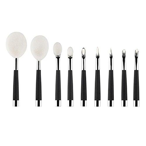 Hrph 9pcs Set Pinceaux de Maquillage Oval Toothbrush Pinceau Poudre Foundation Correcteur Crème BB Pinceaux pour le Visage Outils Cosmétiques