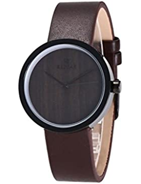 Redear Retro Uhren für Damen Ein Quarzwerk Armbanduhr Watch Braun