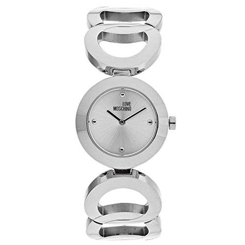 Montre Moschino Quartz - Affichage analogique bracelet Acier Inoxydable et Cadran MW0473_Argentato