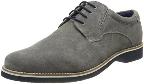 Bugatti Herren 312416021400 Derbys, Grau (Light Grey), 46 EU (Leder Falchi)