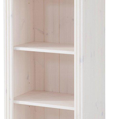 LifeStyleDesign 3001816 Regal Ella, 130 x 30 x 45 cm, kiefer, weiß - 3