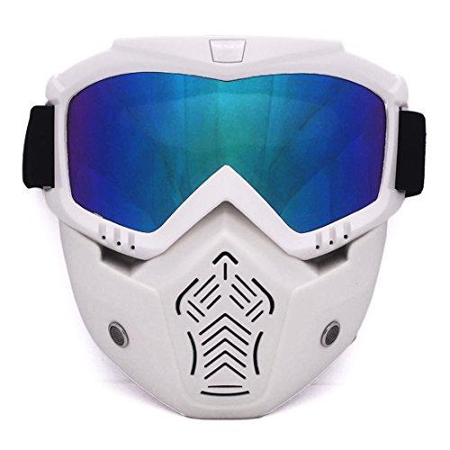 Mecotech Mascara Airsoft Máscara Táctica Máscara de Protección Facial con Gafas Protectoras para Los Ojos para Nerf CS Paintball