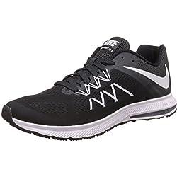 Nike Zoom Winflo 3, Chaussures de Running Entrainement Homme, Black, 44.5 EU