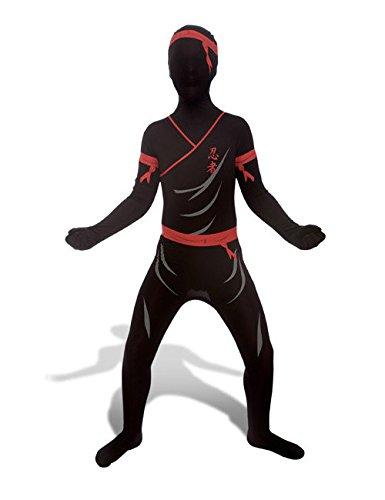 Morphsuit Kinderkostüm Ninja schwarz rot grau L