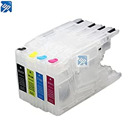 EasyBuy India Refillable Ink Cartridges for Brother MFC-J425W J430W J435W J625DW J825DW J835DW J6910DW J6710DW J6510DW J5910DW