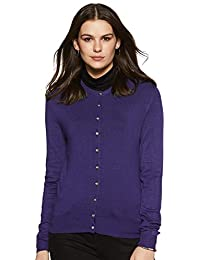 Marks & Spencer Women's Cardigan (T38/5659_Dark Purple_10)