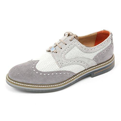 C2494 scarpa inglese uomo BRIMARTS scarpe grigio fondo gomma shoe man Grigio