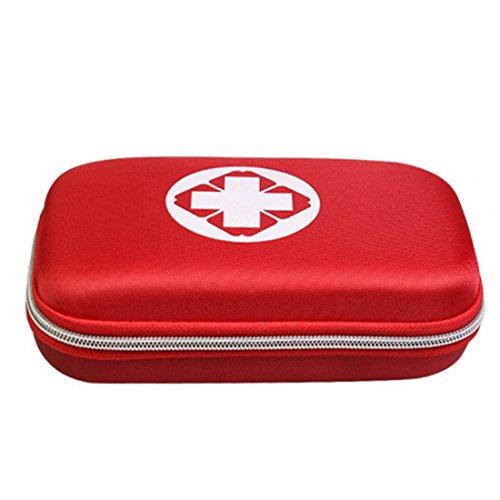 Erste Hilfe Set,Lifesport Erste-Hilfe-Koffer First Aid Kit Notfalltasche Medizinisch Tasche Klein kompakt Perfekt Design für Haus Auto Camping Jagd Reisen Natur und Sport (Rot) -